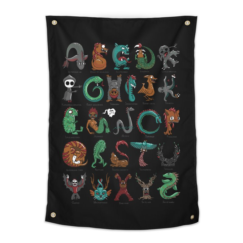 Cryptids Home Tapestry by nutz's Artist Shop