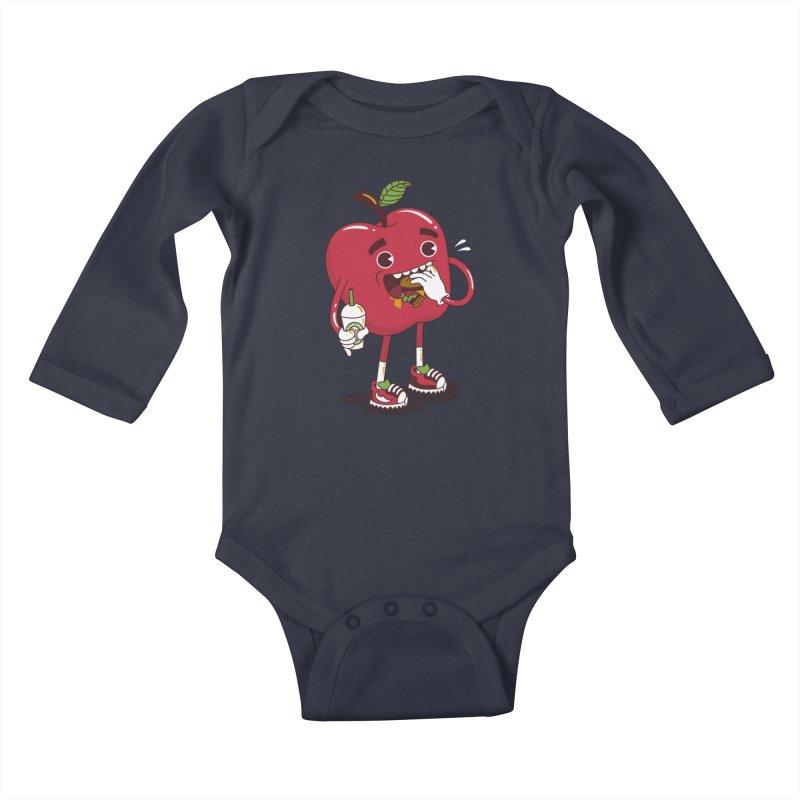 Junkapple Kids Baby Longsleeve Bodysuit by nutz's Artist Shop