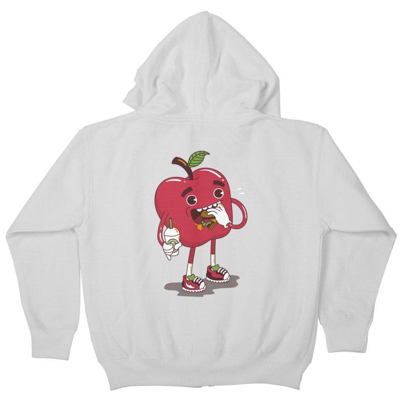 Junkapple Kids Zip-Up Hoody by nutz's Artist Shop