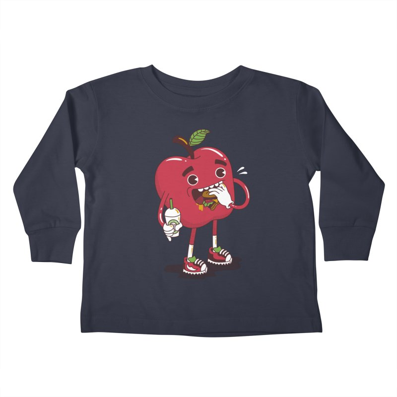 Junkapple Kids Toddler Longsleeve T-Shirt by nutz's Artist Shop