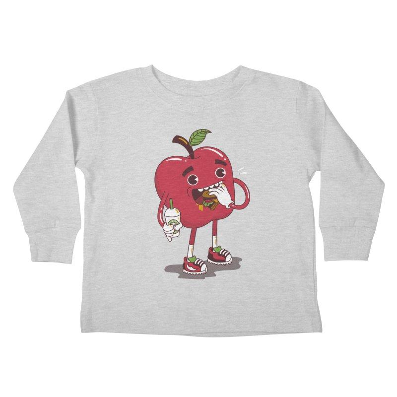 Junkapple Kids Toddler Longsleeve T-Shirt by nutz's Artist Shop