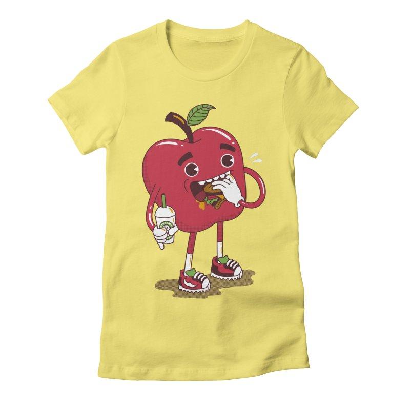Junkapple Women's Fitted T-Shirt by nutz's Artist Shop