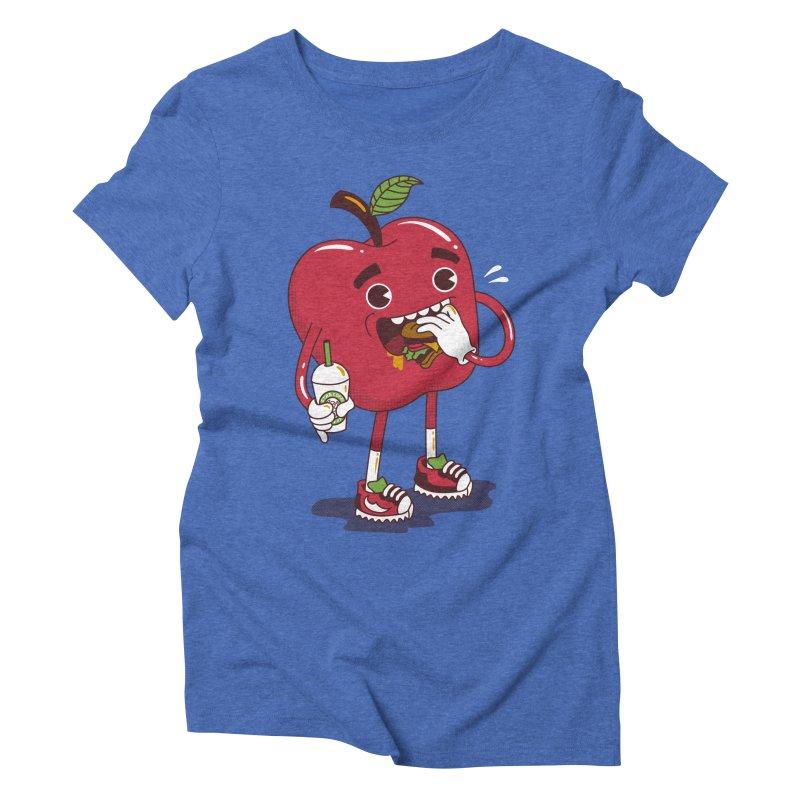 Junkapple Women's Triblend T-shirt by nutz's Artist Shop
