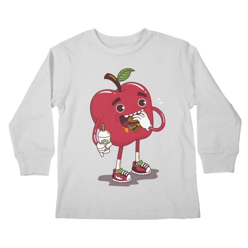 Junkapple Kids Longsleeve T-Shirt by nutz's Artist Shop