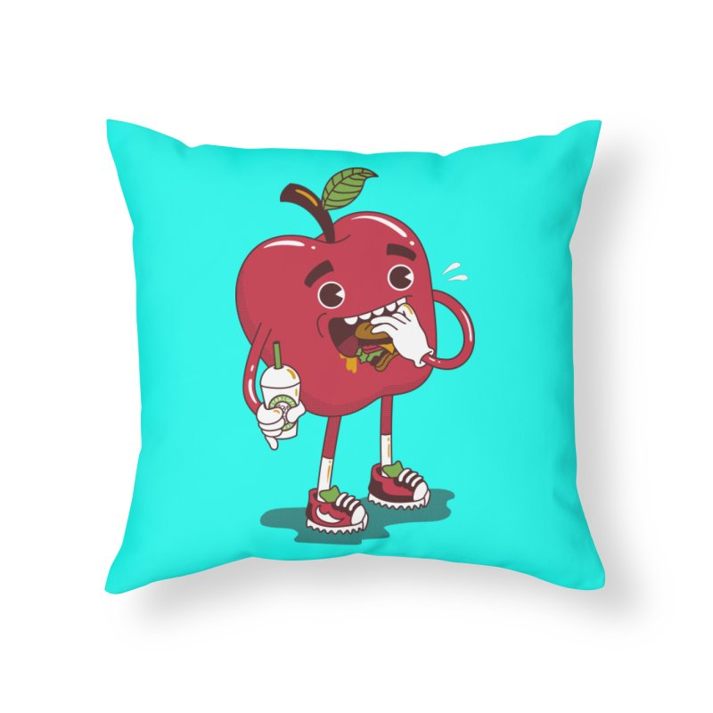Junkapple Home Throw Pillow by nutz's Artist Shop