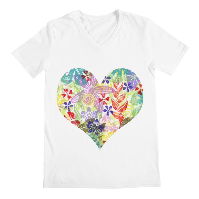 Jungle Love Men's Regular V-Neck by Nuviart's Artist Shop