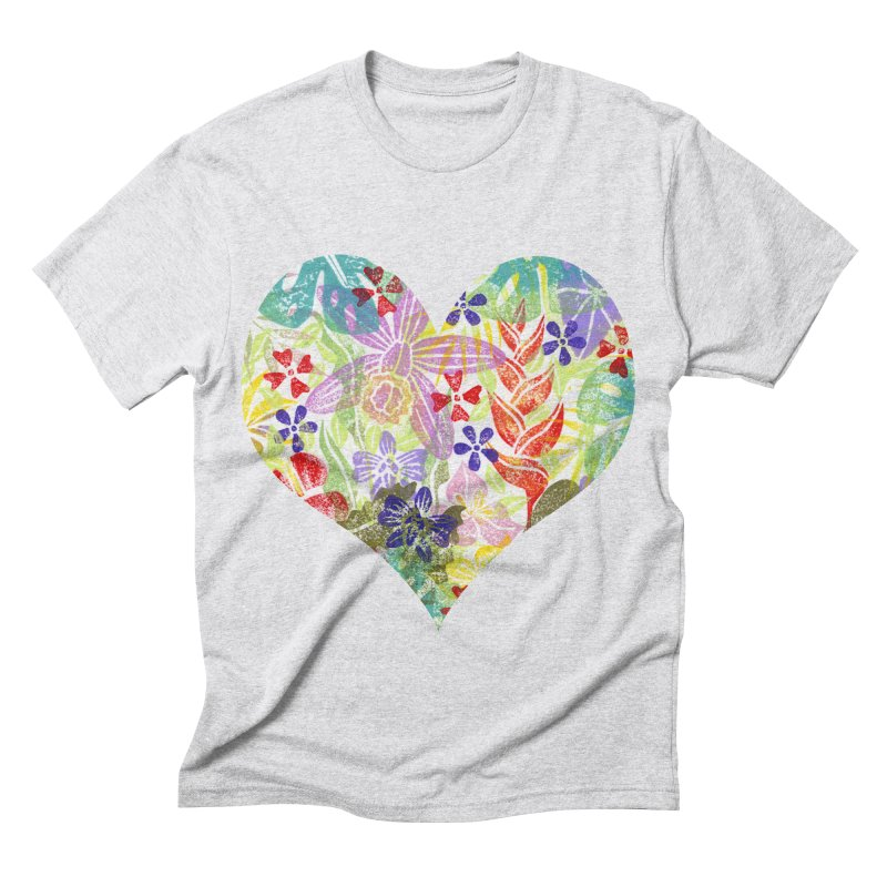 Jungle Love Men's Triblend T-shirt by Nuviart's Artist Shop