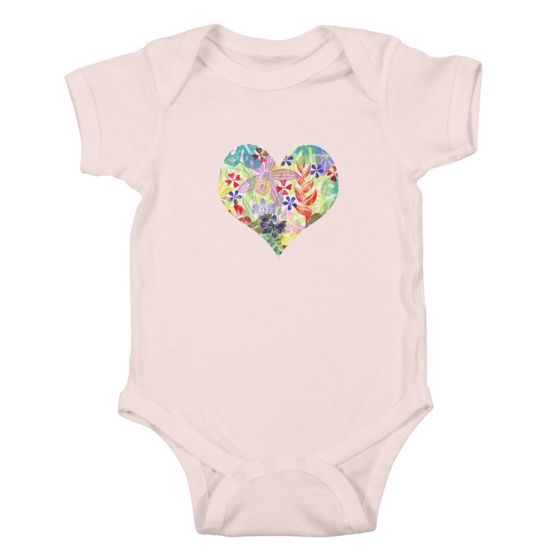 Jungle Love Kids Baby Bodysuit by Nuviart's Artist Shop