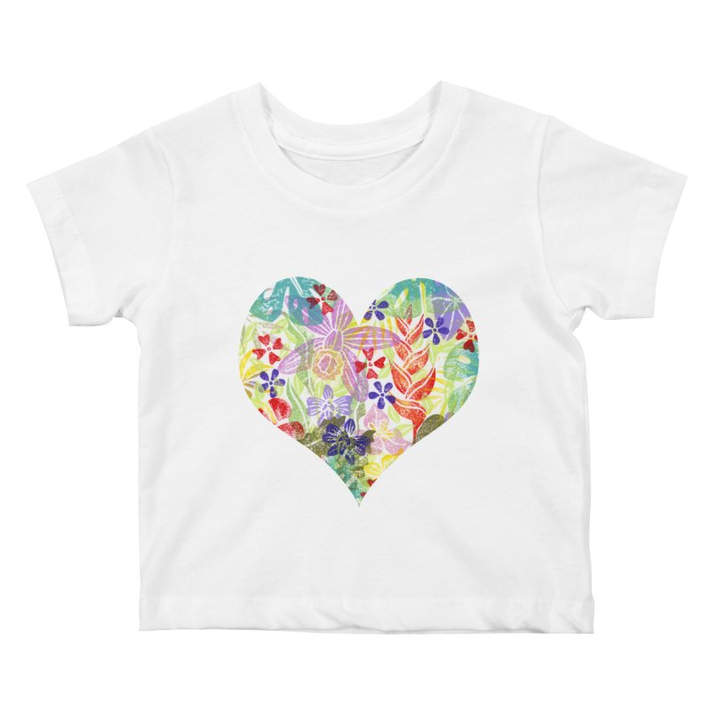 Jungle Love Kids Baby T-Shirt by Nuviart's Artist Shop