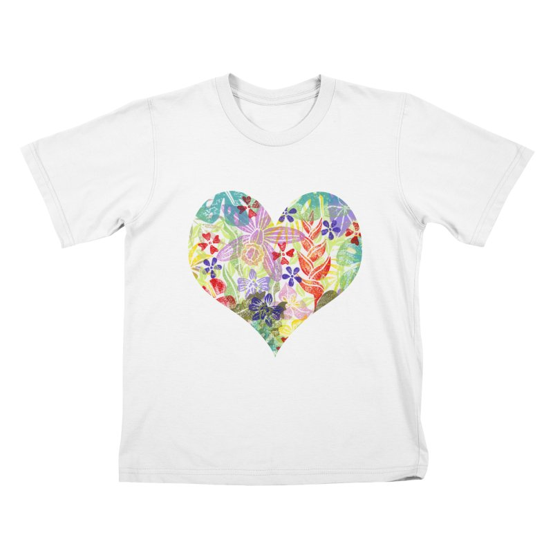 Jungle Love Kids T-Shirt by Nuviart's Artist Shop