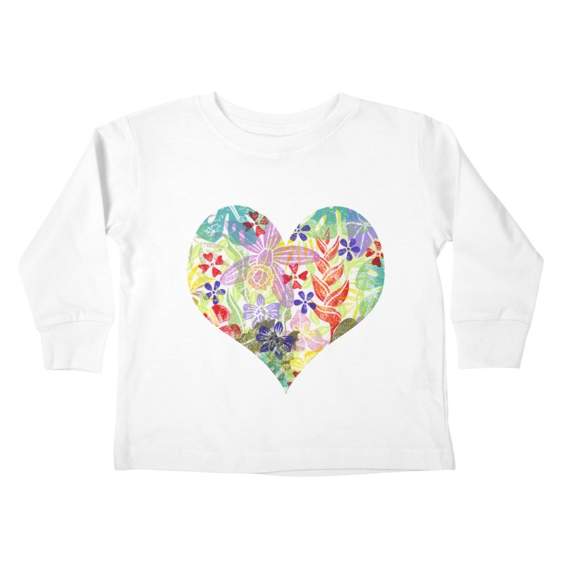 Jungle Love Kids Toddler Longsleeve T-Shirt by Nuviart's Artist Shop
