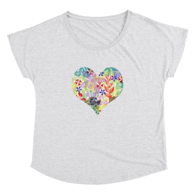 Jungle Love Women's Dolman Scoop Neck by Nuviart's Artist Shop