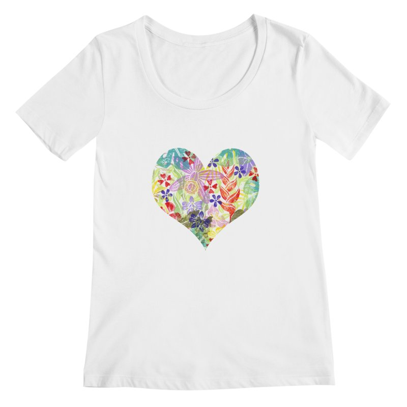Jungle Love Women's Scoopneck by Nuviart's Artist Shop