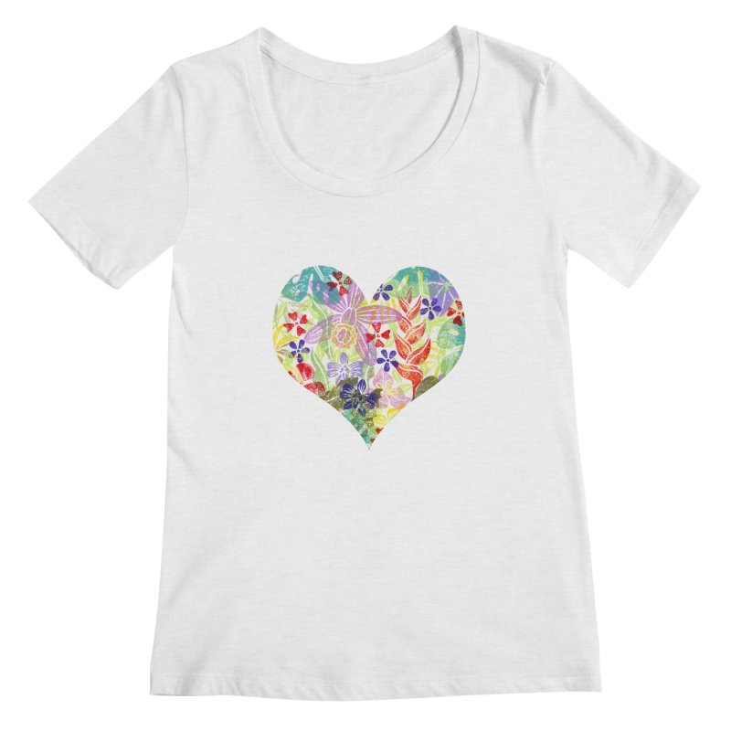 Jungle Love Women's Scoop Neck by Nuviart's Artist Shop