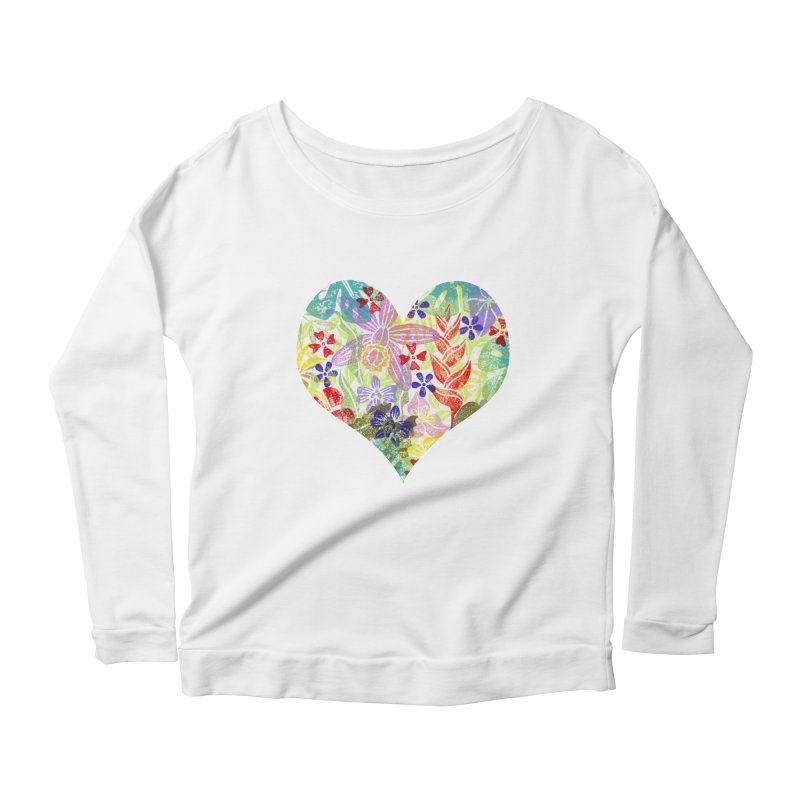 Jungle Love Women's Scoop Neck Longsleeve T-Shirt by Nuviart's Artist Shop