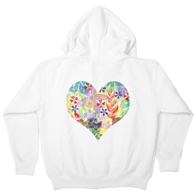 Jungle Love Kids Zip-Up Hoody by Nuviart's Artist Shop