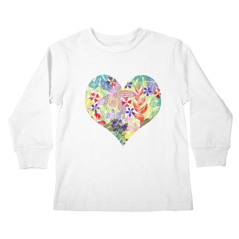 Jungle Love Kids Longsleeve T-Shirt by Nuviart's Artist Shop