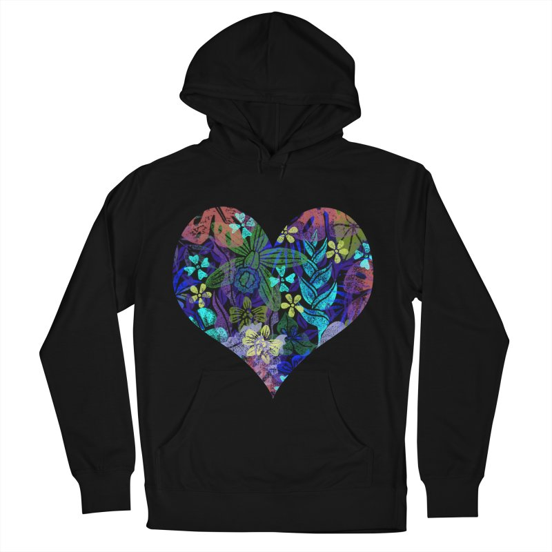 Night Jungle Love Men's French Terry Pullover Hoody by Nuviart's Artist Shop