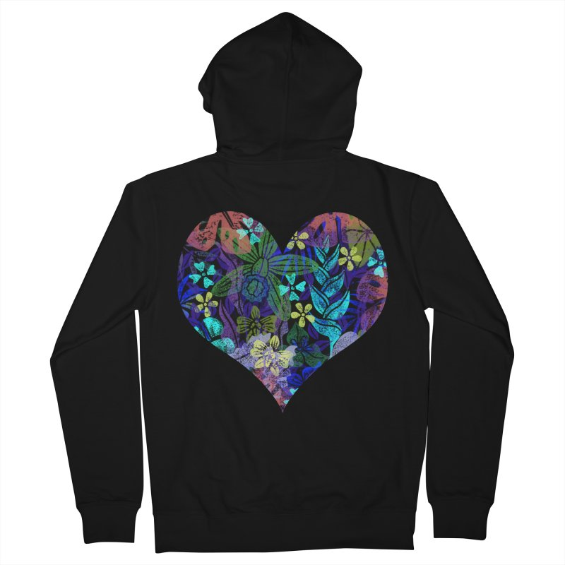 Night Jungle Love Women's Zip-Up Hoody by Nuviart's Artist Shop