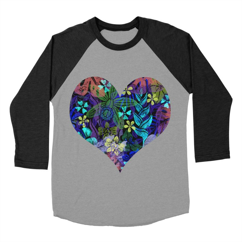 Night Jungle Love Women's Baseball Triblend Longsleeve T-Shirt by Nuviart's Artist Shop