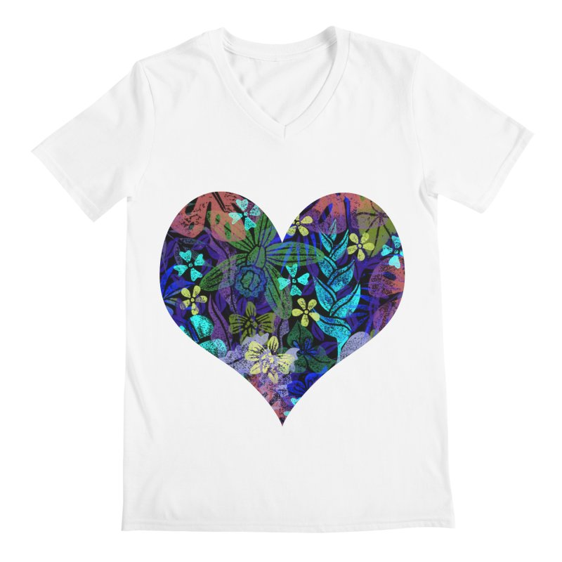 Night Jungle Love Men's V-Neck by Nuviart's Artist Shop