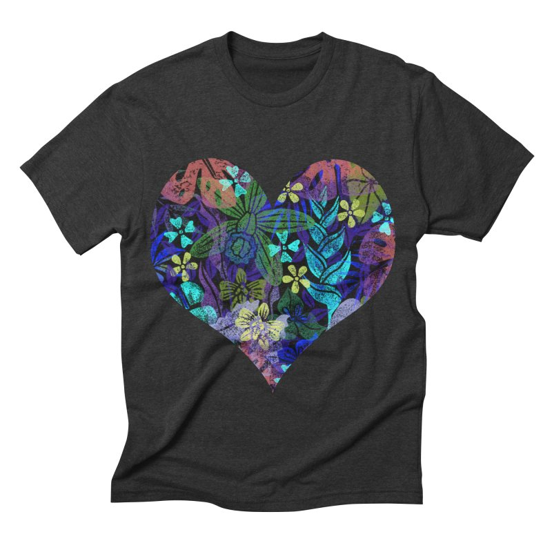 Night Jungle Love Men's Triblend T-shirt by Nuviart's Artist Shop