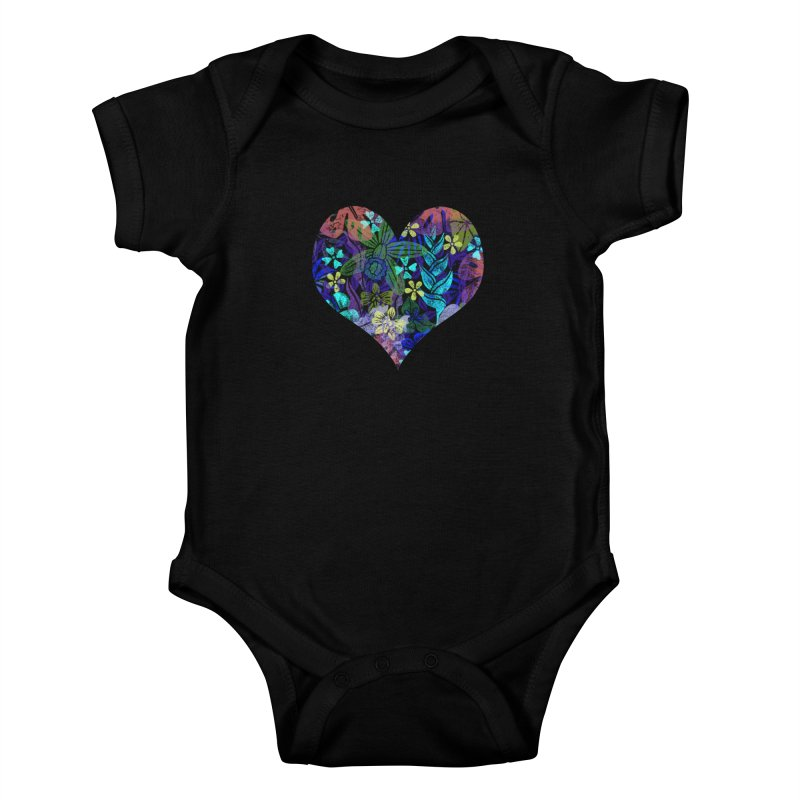 Night Jungle Love Kids Baby Bodysuit by Nuviart's Artist Shop