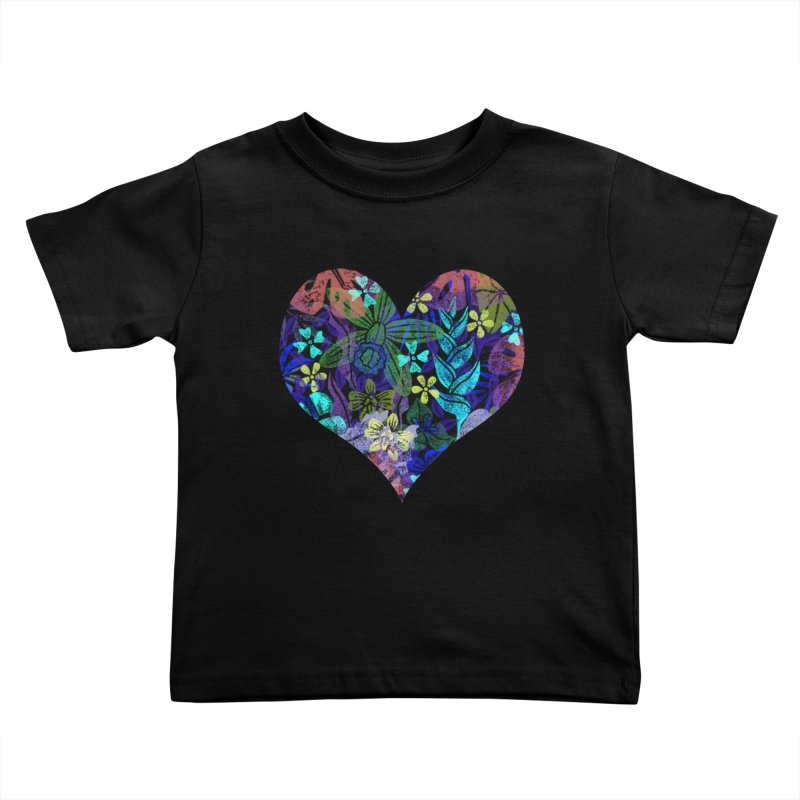 Night Jungle Love Kids Toddler T-Shirt by Nuviart's Artist Shop