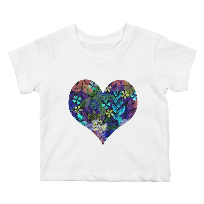 Night Jungle Love Kids Baby T-Shirt by Nuviart's Artist Shop