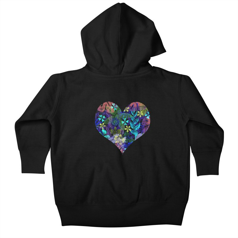 Night Jungle Love Kids Baby Zip-Up Hoody by Nuviart's Artist Shop