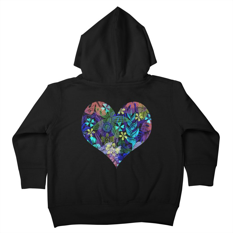 Night Jungle Love Kids Toddler Zip-Up Hoody by Nuviart's Artist Shop