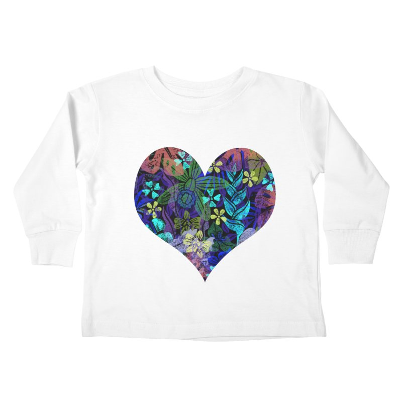 Night Jungle Love Kids Toddler Longsleeve T-Shirt by Nuviart's Artist Shop