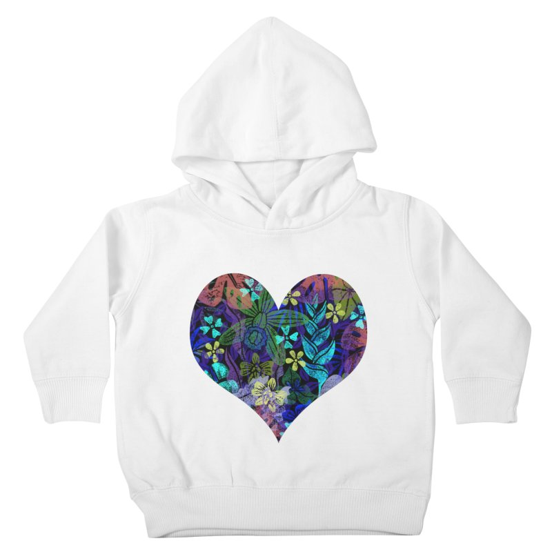 Night Jungle Love Kids Toddler Pullover Hoody by Nuviart's Artist Shop