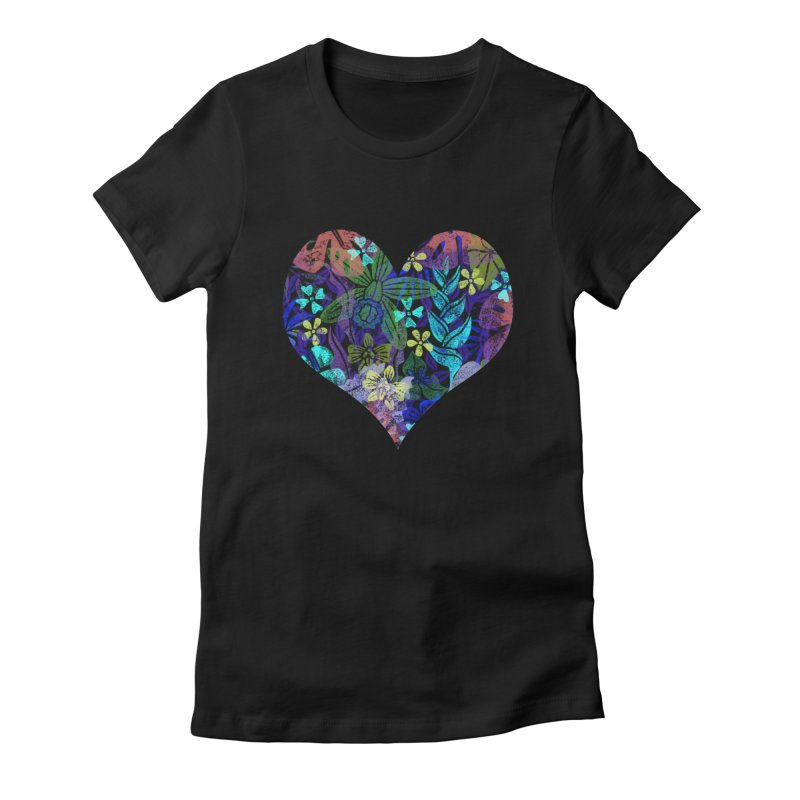 Night Jungle Love Women's T-Shirt by Nuviart's Artist Shop