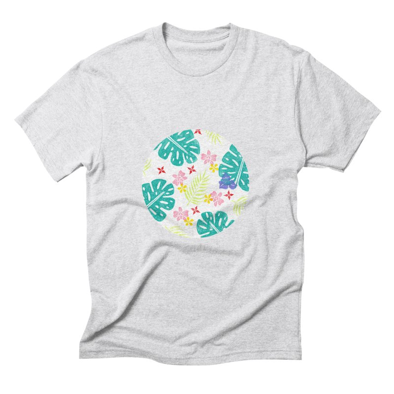 Plants Patterns Men's Triblend T-Shirt by Nuviart's Artist Shop