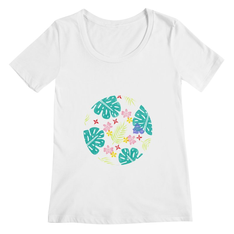 Plants Patterns Women's Regular Scoop Neck by Nuviart's Artist Shop