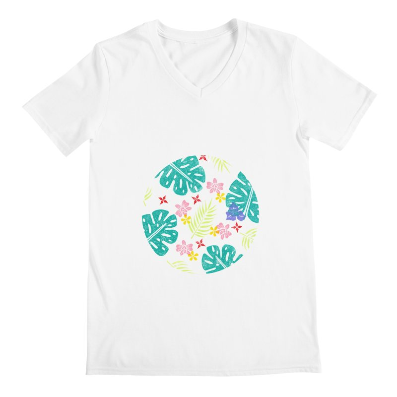 Plants Patterns Men's Regular V-Neck by Nuviart's Artist Shop