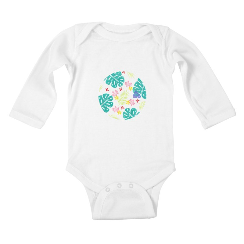 Plants Patterns Kids Baby Longsleeve Bodysuit by Nuviart's Artist Shop