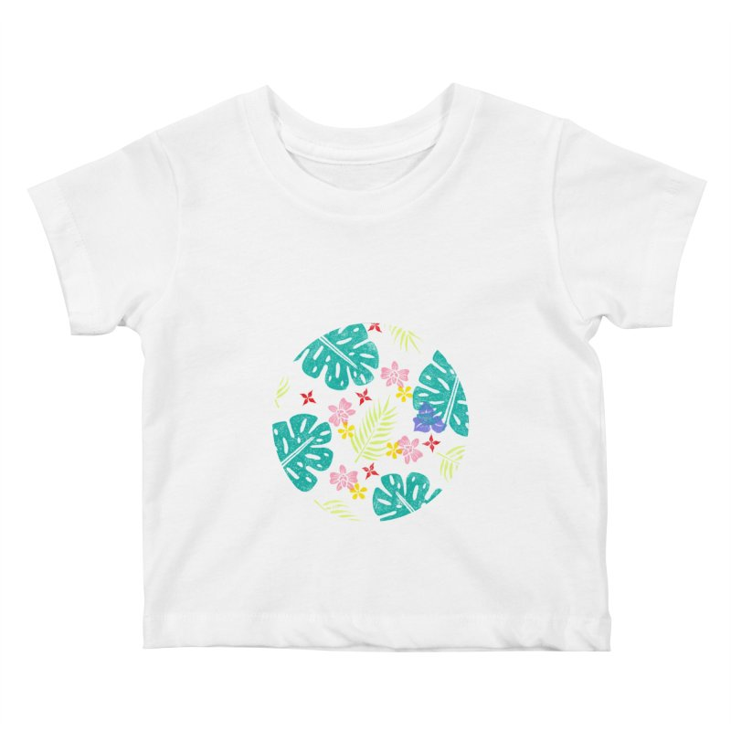Plants Patterns Kids Baby T-Shirt by Nuviart's Artist Shop