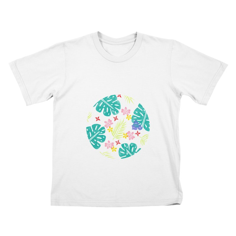 Plants Patterns Kids T-Shirt by Nuviart's Artist Shop