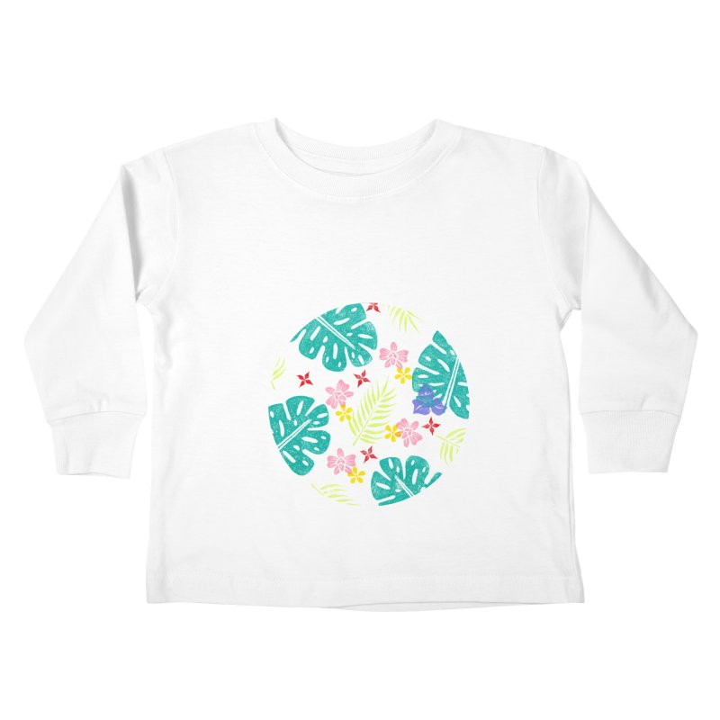 Plants Patterns Kids Toddler Longsleeve T-Shirt by Nuviart's Artist Shop