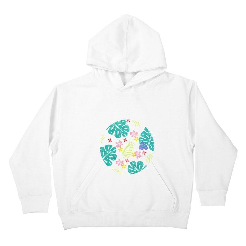 Plants Patterns Kids Pullover Hoody by Nuviart's Artist Shop