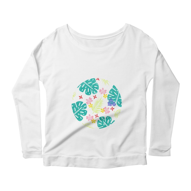 Plants Patterns Women's Scoop Neck Longsleeve T-Shirt by Nuviart's Artist Shop