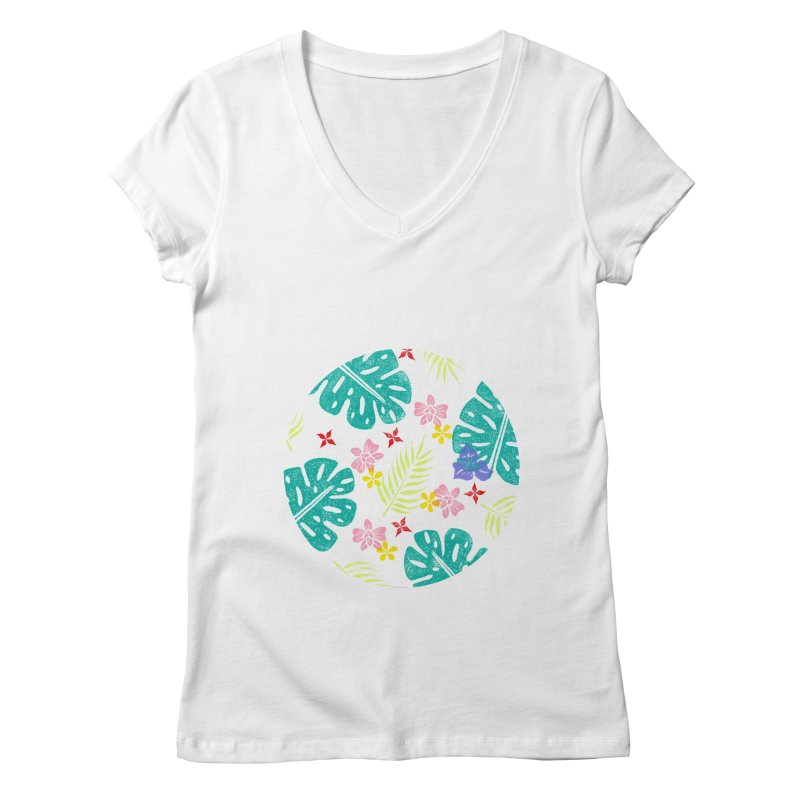 Plants Patterns Women's V-Neck by Nuviart's Artist Shop