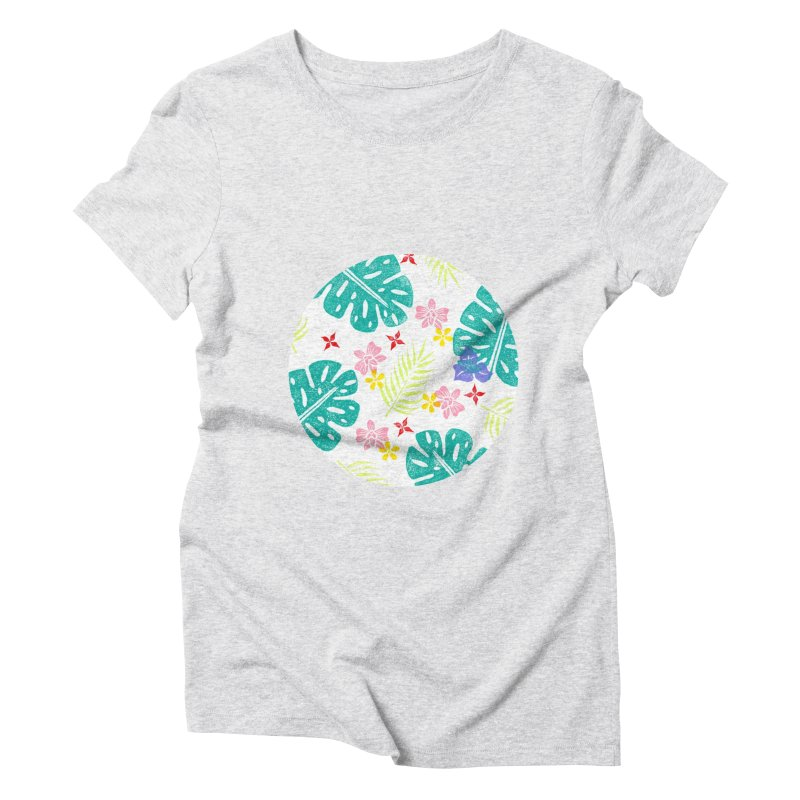 Plants Patterns Women's Triblend T-Shirt by Nuviart's Artist Shop