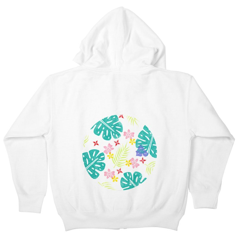Plants Patterns Kids Zip-Up Hoody by Nuviart's Artist Shop