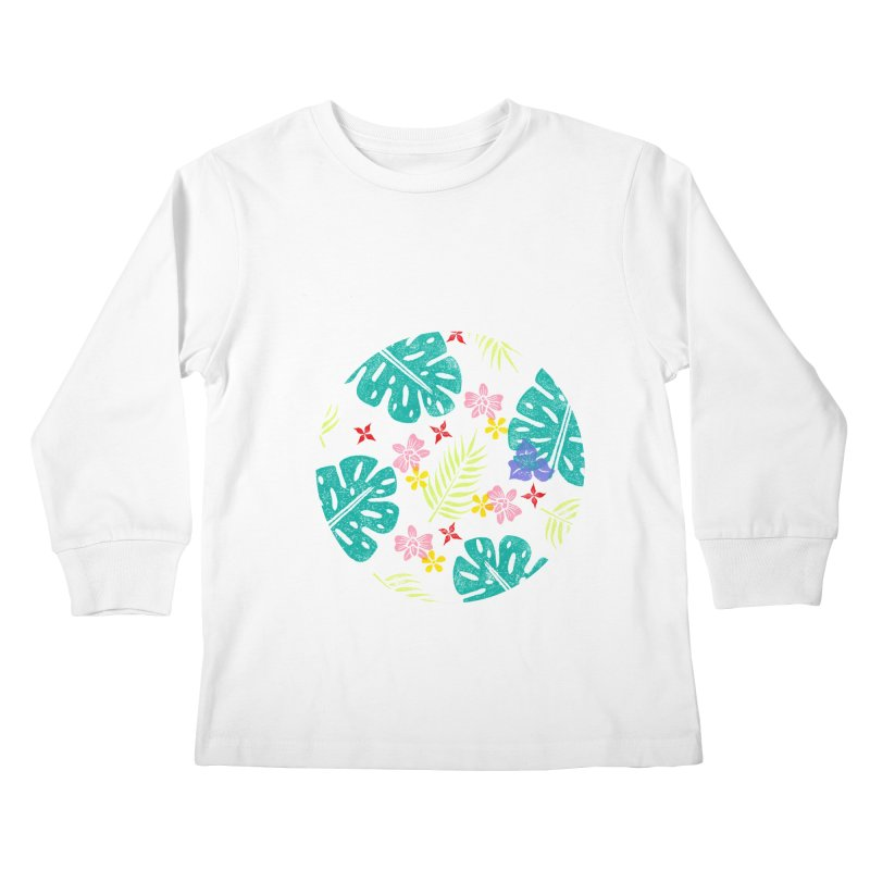 Plants Patterns Kids Longsleeve T-Shirt by Nuviart's Artist Shop