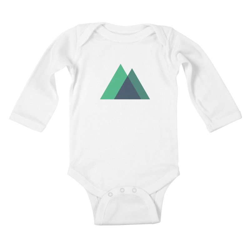 Nuxt Logo Kids Baby Longsleeve Bodysuit by The Nuxt Shop