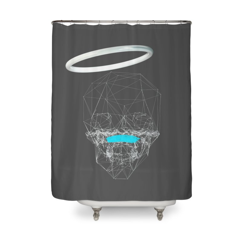 80's Style Saint Home Shower Curtain by nvil's Artist Shop