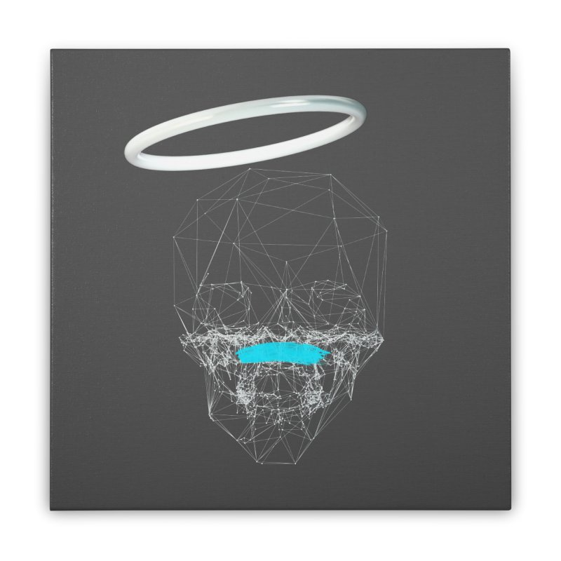 80's Style Saint Home Stretched Canvas by nvil's Artist Shop